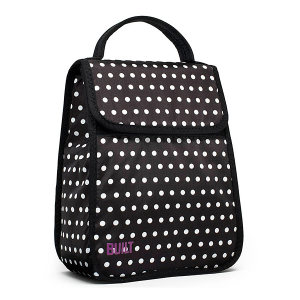 Built NY black and white dot lunch tote